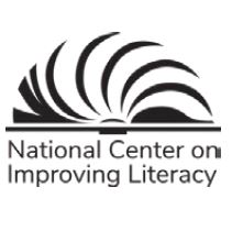 National Center on Improving Literacy logo of stylized open book