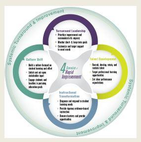 Four Domains of Rapid Improvement cloverleaf graphic