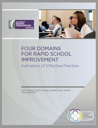 Cover text - Four Domains for Rapid School Improvement: Indicators of Effective Practice