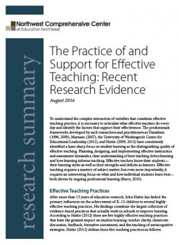 Cover page - Practice of and Support for Effective Teaching
