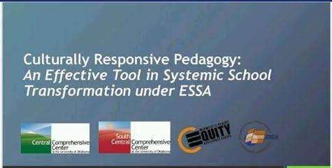 "Screenshot from webinar with title ""Culturally Responsive Pedagogy"""